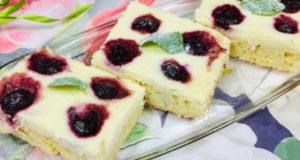 Пирожные Блаженство с творогом и вишней