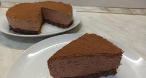 Шоколадный чизкейк-торт без выпечки