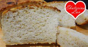 Хлеб без вымешивания с луком