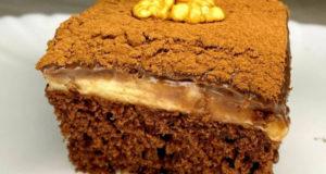 Пирожное с шоколадным и лимонным кремом