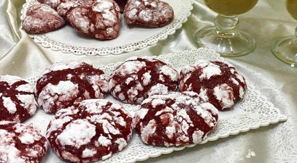 Мраморное печенье Красный Бархат