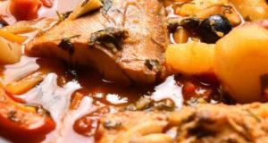 Тушеная рыба с овощами Хашлама