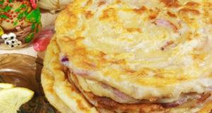 Узбекская лепешка со вкусом чебуреков