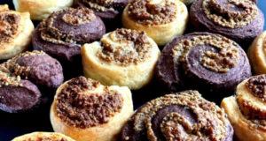 Творожное печенье с халвой