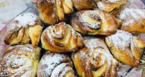 Слоеные творожные булочки без дрожжей