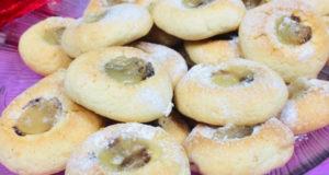 Печенье с шоколадом и лимонным конфи
