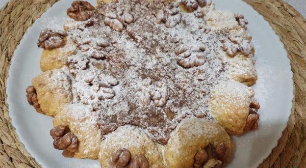 Орехово яблочный Пирог из Песочного теста