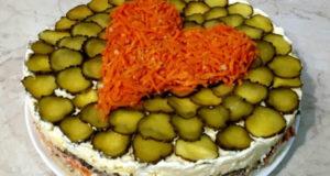Слоеный салат Я тебя люблю