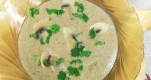 Грибной крем-суп с хлебной коркой