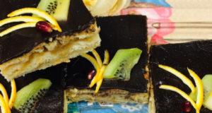 Яблочный слоеный пирог с глазурью