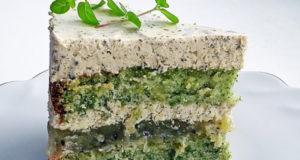 Мятный зеленый торт