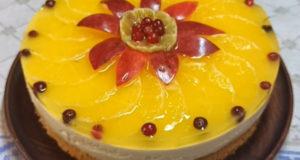 Творожно-апельсиновый тортик