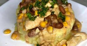 Куриное филе с фасолью и кукурузой