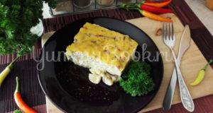 Картофельная запеканка с копчёной курицей