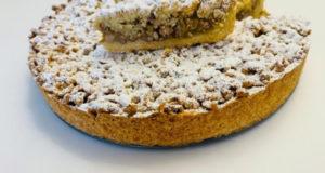 Немецкий яблочный пирог с грецкими орехами