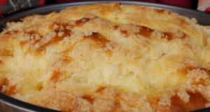 Сахарный пирог со сливочной заливкой