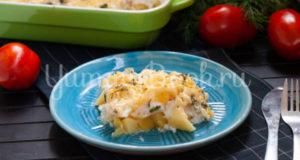 Картофельная запеканка с яичными белками