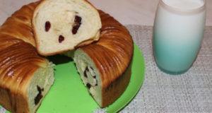 Десертный сдобный хлеб с клюквой