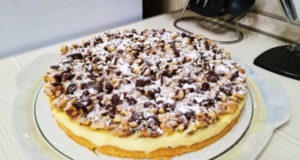 Ванильный пирог с орехами