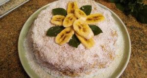 """Торт """"Пломбир"""" с бананом"""