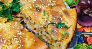 Пирог с фаршем для быстрого ужина