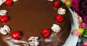 Торт для семьи Шоколадно-вишневый рай