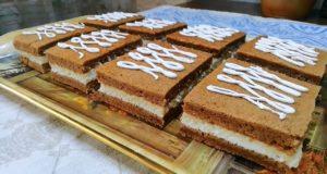 Шоколадно-медовое пирожное