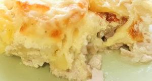 Картофельная запеканка с куриной грудкой