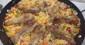 Рис с курицей по-каталонски
