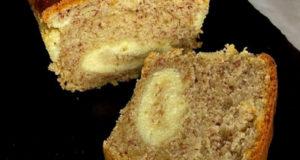 Банановый хлеб с творожной начинкой