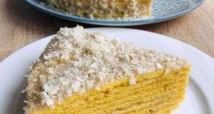 Тыквенный торт на сковороде