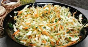 Салат из свежей капусты с репой