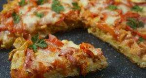 Пицца из нарезанных полосок лаваша