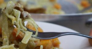 Паста с тыквой в сливочном соусе