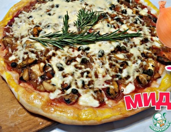 Начинка для пиццы с морепродуктами