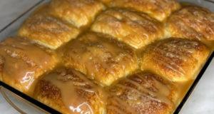 Отрывной пирог с яблоками и карамелью