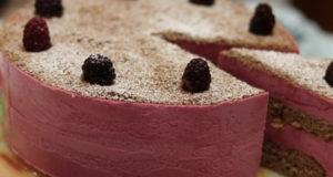 Торт мусс Сливочно-ежевичный