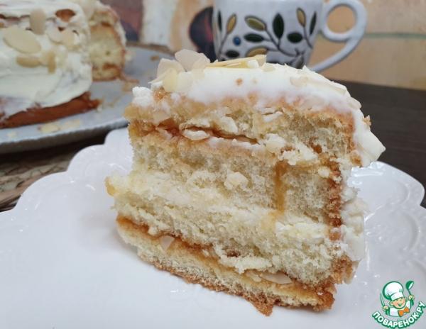 """Бисквитный торт """"Дуэт"""""""
