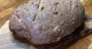Чёрный хлеб с отрубями и черносливом