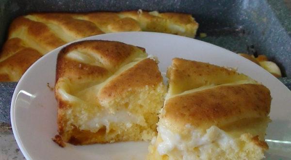 Апельсиновый пирог с заварным кремом