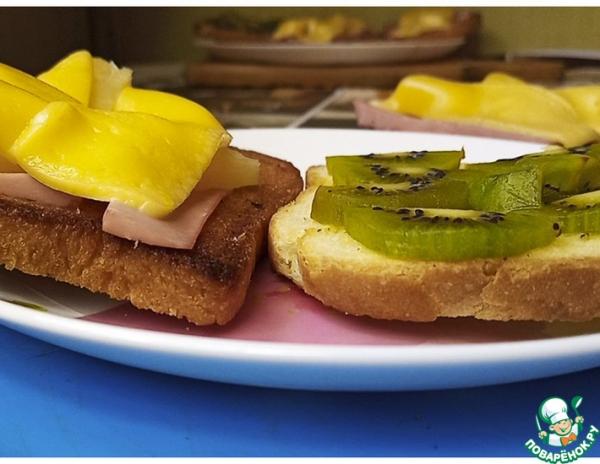 Хрустящие тосты и киви // Гавайские тосты