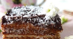 Шоколадный торт из вафель с маскарпоне