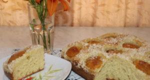 Дрожжевой пирог с абрикосами без замеса