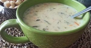 Сырный суп с тертым картофелем