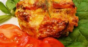 Курица запечённая с тёртым картофелем