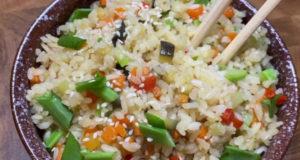 Рис жаренный с овощами
