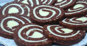 Печенье с кокосовой начинкой без выпечки