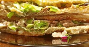 Сэндвич с тунцом, майонезом и яйцом