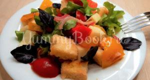 Тосканский овощной салат Панцанелла