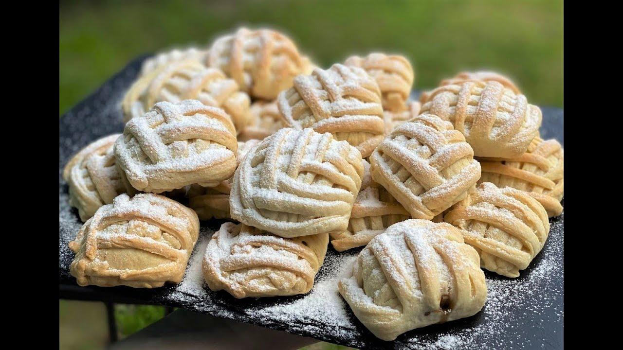 Печенье с яблочно-ореховой начинкой